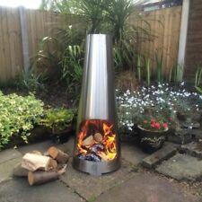 Stainless Steel Chimenea Colour Changing Chimenea Modern Chimenea Garden Heater