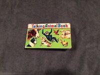 "Vintage ~Book in Box ~ Talking Animal Book~ Squeaker in each page ~ Japan~7 1/4"""