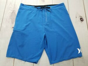 Hurley PHANTOM Mens Board Shorts Blue Swim Surf Trunks Size 36