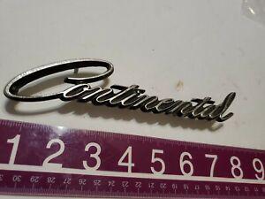 1968 1969 Lincoln Continental Rear Script Emblem 68 69