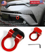 Red Plastic Tape on Adjustable Racing Decoration Tow Hook Ring For Honda Acura