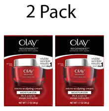 Olay Regenerist Micro Sculpting Cream Anti-Aging Moisturizer , 1.7oz, 2 Pack