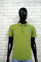 Polo AVIREX Uomo Taglia M Maglietta Cotone Shirt T-Shirt Maglia Verde Jersey