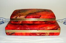 2) Vintage Hard Case Earring Travel Organizer / Earring & Jewelry Boxes Hinged