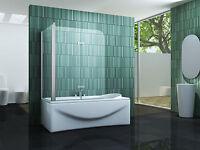 PERINTO 70 + 120 x 140 Badewannen Faltwand Duschwand Duschabtrennung Duschwand