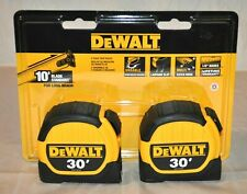 Dewalt 2- Pack Tape Measures 30 Ft DWHT36109 Rubber Slide Lock 10' Standout NEW