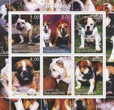 BULLDOG CANINE ANIMAL PET DOG TADJIKISTAN 2000 MNH STAMP SHEETLET