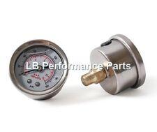 Fuel Pressure Gauge Glycerine Filled 1/8 Regulator etc