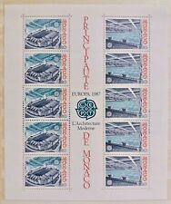 Bloc Feuille Timbre Stamp Monaco 1987 YT BF 37 EUROPA CEPT Neuf