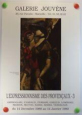A. CHABAUD expose à la Galerie Jouvène à Marseille AFFICHE ORIGINALE/9bPB