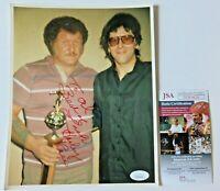 HARLEY RACE SIGNED 8x10 PHOTO ~ WWE WWF WRESTLING ~ JSA DD03628