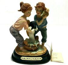 The Helena Collection Boy Girl Children Shower Dog Bucket Figurines Ornaments