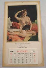 Rick'S Auto Repair Long Beach, Ca Pin Up Calendar Nude Girl Advertising Ephemera