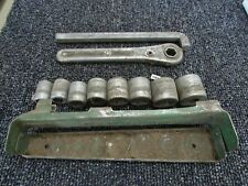 Vintage Duro Chrome Metal Products 1920s Hex Drive Socket Set with Metal Carrier