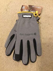 Carhartt Mens High Dexterity Quick Work Flex Gloves Size XL Grey/Black A547