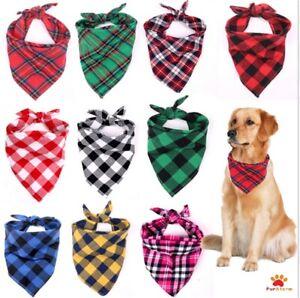 Tartan Dog Bandana over collar slide on Neckerchief Gift UK Dog Neck Scarf NEW