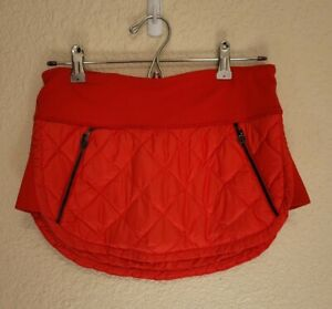 Lululemon Sz 6 Hot Cheeks Skirt Slope Stripe Printed Love Red