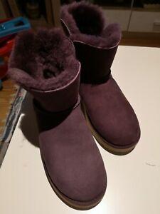 UGG Mini classic cuff  Stiefel Winterschuh Boots Damen Pink 1016417