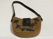 RARE Guess mini purse handbag shoulder bag beaded vintage brown womens small