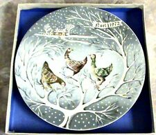 1972~Haviland Limoges~New~Three French Hens~12 Days of Christmas #3 Plate~France