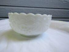 "Imperial Doeskin Grape Milk Glass 4¼"" Small Fruit / Dessert Bowl"