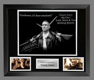 Vinnie Jones Hand Signed Lock Stock 12x16 Photo In A Frame Presentation : A