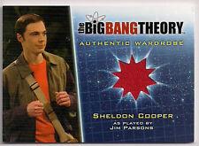 Big Bang Theory Season 5 Costume Card M34 Sheldon Cooper