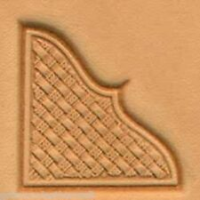 Craftool 3-D Leather Stamp Basketweave Corner  (8535-00)