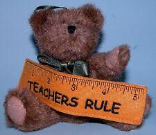 Boyds Bear 2004 plush ornament, jointed bear Teachers Rule # 562514, New