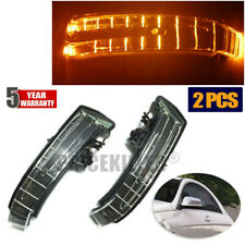 Fit For Mercedes W204 W212 W164 LED Side Mirror Marker Turn Signal Light Yellow