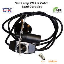 E14 Plug in Pendant Light Salt Lamp 2M Cable Lead Cord Set 3 Pin Lamp Holder UK
