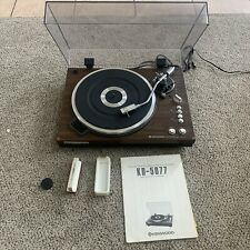 Kenwood KD-5077 Wood Turntable , Needle, Dust Cover Rare Find