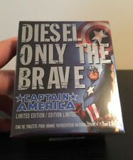 DIESEL Only The Brave Captain America Limited Edition Cologne Fragrance HTF RARE