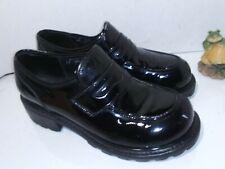 Muro Welt Black Patent Leather Loafers platform thick  Vintage punk mens 10.5