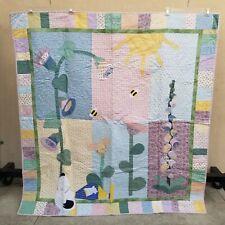 Vtg? 2002 Handmade Snoopy Woodstock Peanuts Baby Toddler Kids Quilt Blanket