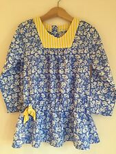 Marks and Spencer, 4-5 ans filles tunique/short bleu marine, jaune, Summer