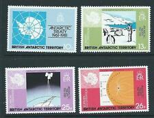 Terr. Antártico Británico SG99/102 1981 Tratado Antártico estampillada sin montar o nunca montada