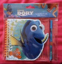 DISNEY PIXAR FINDING DORY + NEMO Spirale Blocco Note con matita-nuovo con confezione!