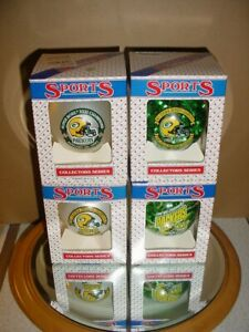 13 GREEN BAY PACKERS CHRISTMAS ORNAMENTS SUPER BOWL XXXI AARON RODGERS D MINT