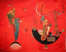 """20"""" X 28"""" KANDINSKY FULLY LINED BELGIAN TAPESTRY WALL HANGING WITH ROD SLEEVE"""