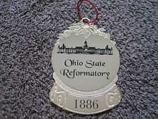 Mansfield Prison Ohio State Reformatory Holiday Guard Badge Gold Ornament HTF