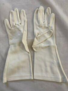 Vintage JC Penneys whiteLadies Gloves - 100% Nylon W/ Original Bag sz 6 1/2-8