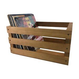 Schallplatten Holzkiste/Aufbewahrungskiste, Natur, für LP´s