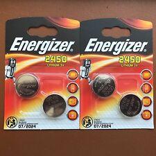 4 x Energizer CR2450 Batteria A Bottone Al Litio 3V 2450 DL2450