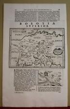 BOEOTIA & MEGARIS GREECE 1661 LAUREMBERG ANTIQUE ORIGINAL COPPER ENGRAVED MAP