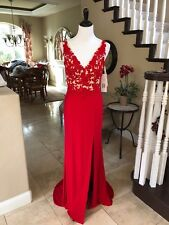 $398 NWT RED LACE JVN BY JOVANI PROM/PAGEANT/FORMAL DRESS/GOWN #22426 SIZE 10