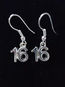 STERLING SILVER 16TH BIRTHDAY GIFT EARRINGS. WRAPPED & WITH A PRETTY GIFT BOX