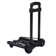 Black Platform Cart Dolly Folding Foldable Moving Warehouse Push Hand Truck