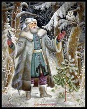 Arctic Santa Claus 2 - Chart Counted Cross Stitch Patterns Needlework DIY DMC