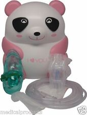Pediatric Kids Nebulizer Machine Compressor Pink Panda for Allergy Asthma COPD
